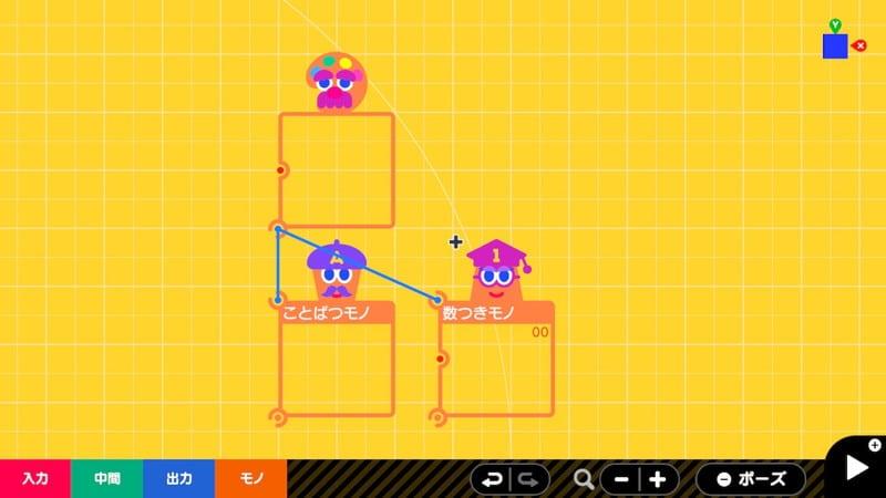 ことばつきモノノードン、数つきモノノードンとテクスチャノードンを連結する